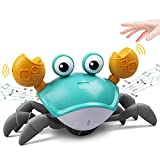 ZONICE Green Crawling Crab Baby Toy with Music and LED Light...