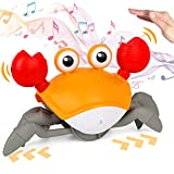 Musical Crab Toys for Kids, Induction Crawling Toys W/...